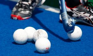 Hockey balls during the Hockey Golden Summer Series - Black Sticks Men v Korea, Tauranga Hockey Centre, Blake Park, Mount Maunganui, New Zealand. Saturday 19 February 2011. Photo: Simon Watts/PHOTOSPORT